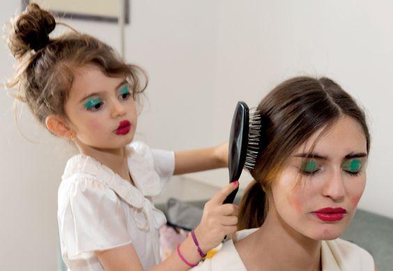 "Bianca Balti with daughterMatilde Lucidi in ""Daily Chores"" byMartin ParrforGrey Magazine#8, Spring/Summer 2013"