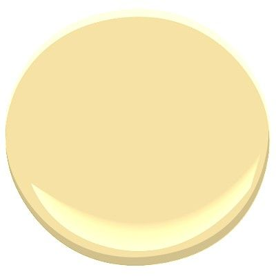 Benjamin Moore: Hawthorne yellow HC-4 - This historical color is reflective of traditional architecture, but also works beautifully in modern homes. The slight gray undertone makes it usable in any room. LRV : 73.61
