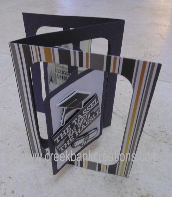 Flip Card with a twist!  Money hanging inside.  View my you tube channel to see the video!  http://youtu.be/f_dShtoypQM