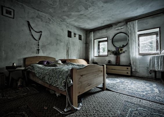 "Abandoned bedroom in the ""House of the Faithful ..."