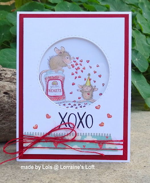 House Mouse Glitter Hearts House Mouse House Mouse Stamps Stampendous Cards