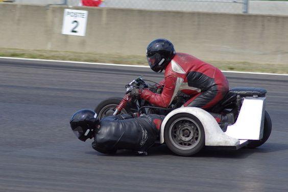 moto, side-car, circuit, course automobile, course