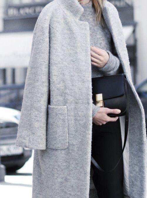 MINIMAL   CLASSIC: box bag grey coat | Minimal | Coats