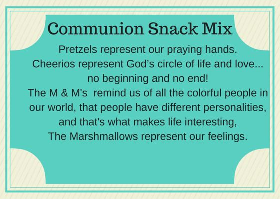 how to give a communion message