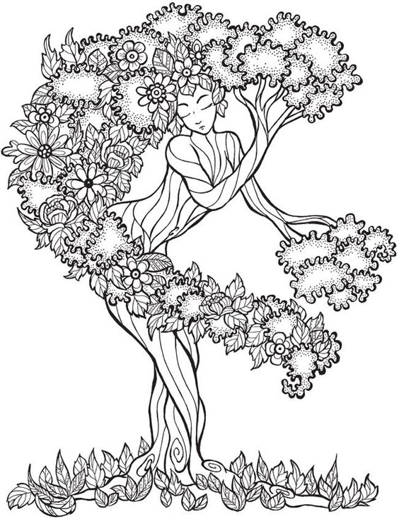 Coloring Pages For Adults Trees : Trees coloring and dovers on pinterest