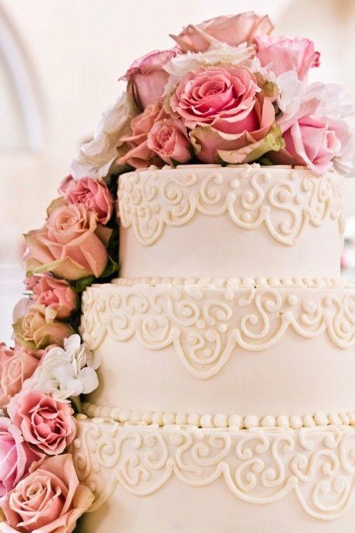 Alternative To Rose Garden: Buttercream Wedding Cake Utah- Gorgeous Alternative To