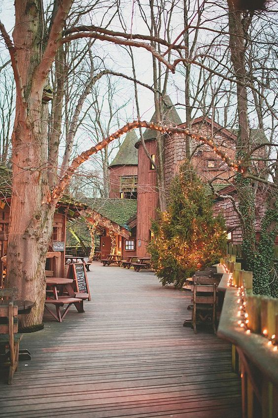 Treehouse at Alnwick Castle - A Stephanie Allin Gown for a Magical Treehouse, Tipi and Castle Wedding