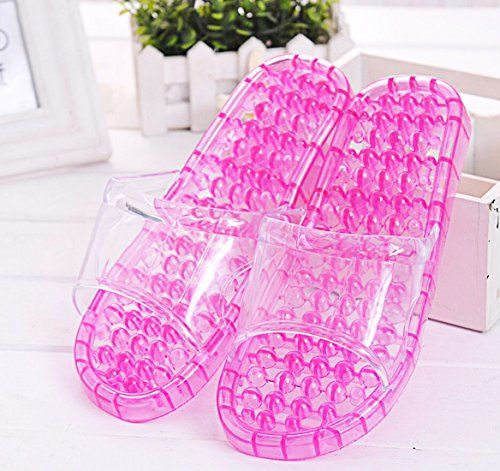 KOOTIPS Acupressure Slimming SPA Massage Shoes Slipper Bathroom Washing Shower Slipper Sandal Color Pink S 23cm  455 *** See this great product.
