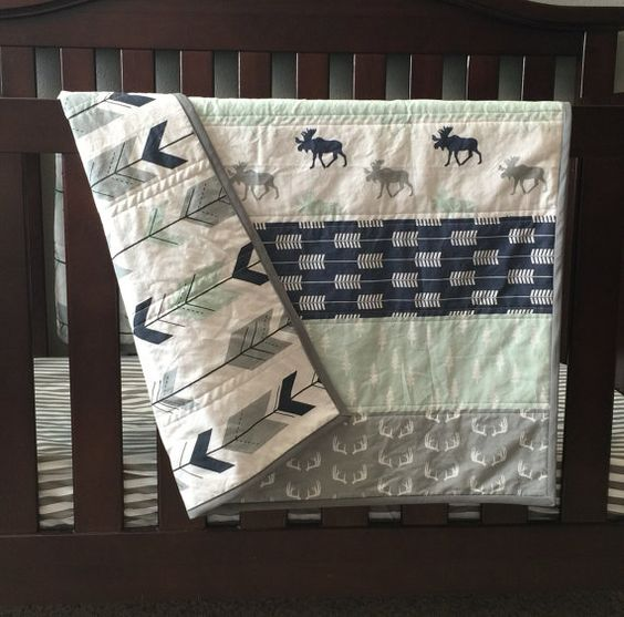 Hey, I found this really awesome Etsy listing at https://www.etsy.com/uk/listing/267350304/woodland-baby-quilt-baby-boy-nursery