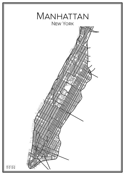 printable map of manhattan manhattan manhattan new city and cities 24076