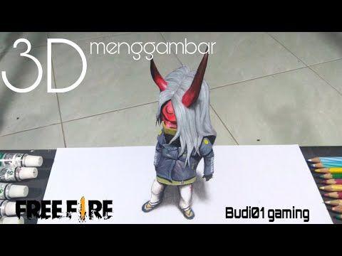 Menggambar 3d Set Budi01 Gaming Versi Imut Free Fire Youtube Gambar Cat Air Pensil Warna