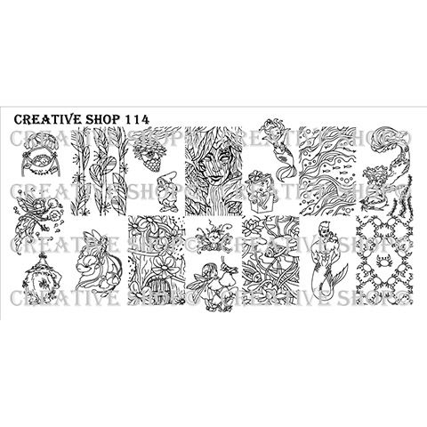 Creative Shop- Stamping Plate- 114