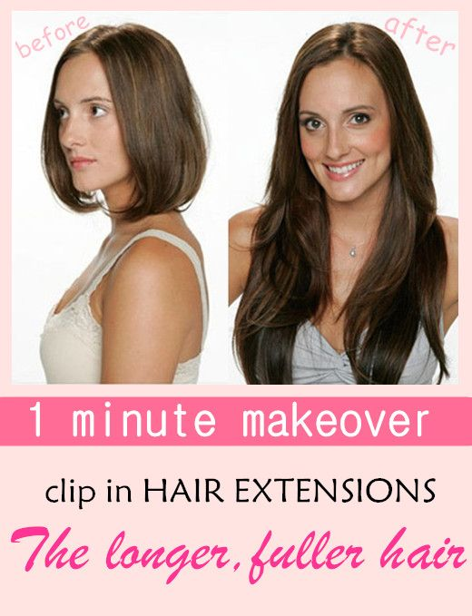 Just need 1 minute to make your hair from before to after. Get longer and fuller hair here!