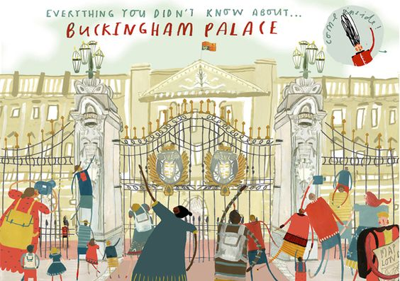 Buckingham Palace - Clair Rossiter illustration