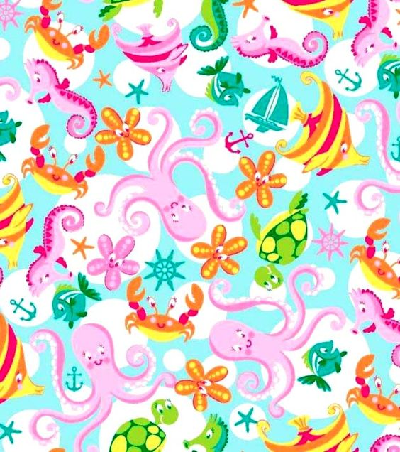 Sea Creatures - Crib / Toddler Sheet,  I think this could be the one!!! :)