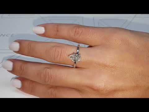 The Jessica Engagement Ring 1 Carat Pear Shaped Diamond Engagement Ring 14k White Gold J99232 1 Carat Engagement Rings Pear Engagement Ring Prong Engagement Rings