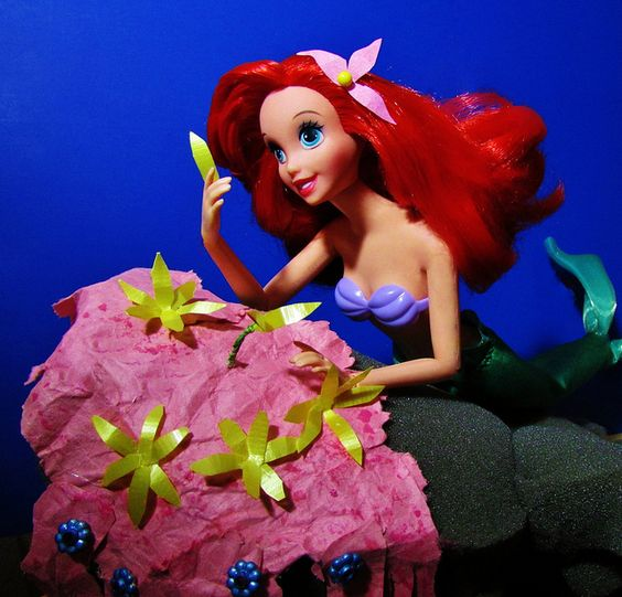 Ariel doll acting out scene from movie :)