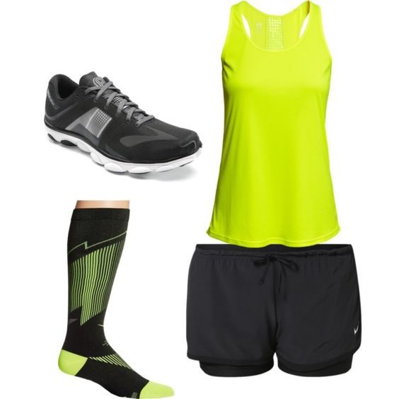 Brooks running by nicolelhadley on Polyvore featuring polyvore moda style NIKE H&M Brooks