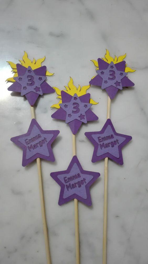 compleanno rapunzel - decorazioni laser cut