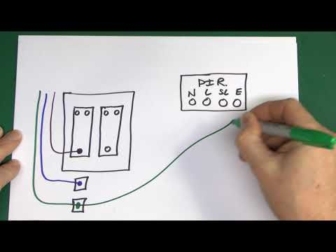 two wiring diagrams for outside lights controlledpir