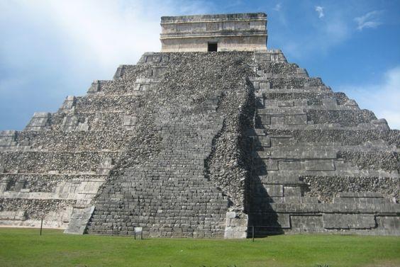 Visite du Mexique : Pyramide, Chichen Itza, Mexique - Ruines Mayas