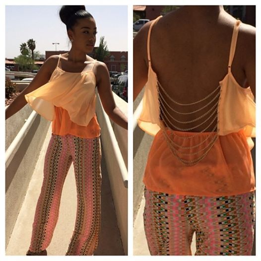 Orange the hottest color of the season!!!! We love this outfit!!