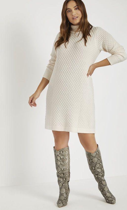 Plus Size Turtleneck Sweater Dress Women S Plus Size Sweater Turtleneck Dresses Sweater Dress Plus Size Sweater Dress Sweater Dress Women