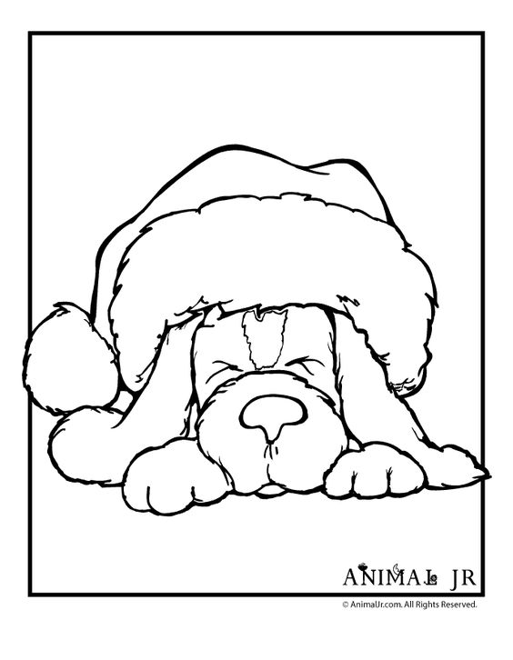 Best Christmas Animal Coloring Pages Printable