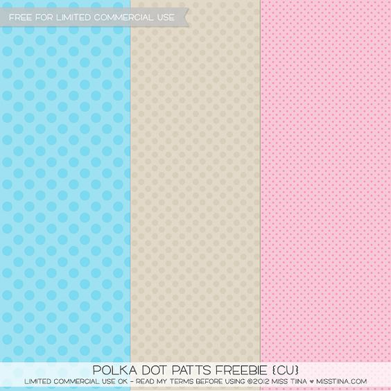 free polka dot papers