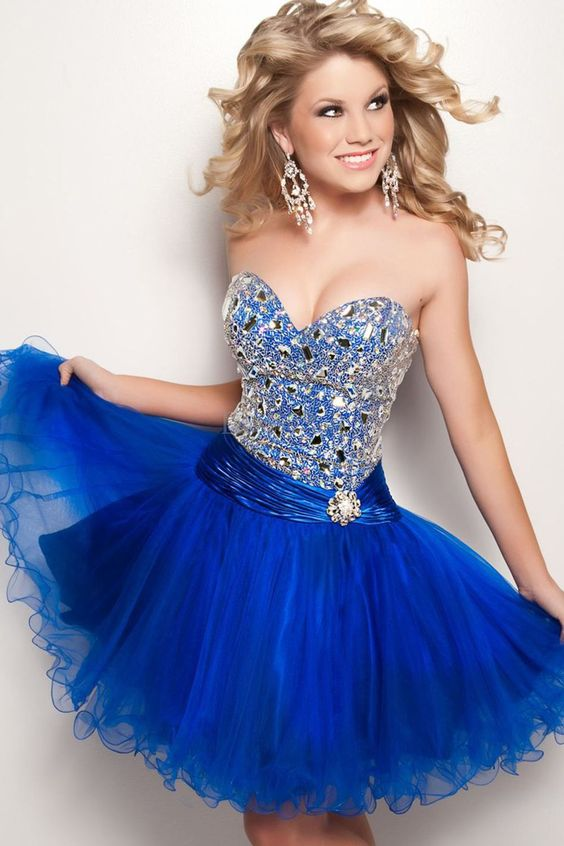 Royal blue dress 16