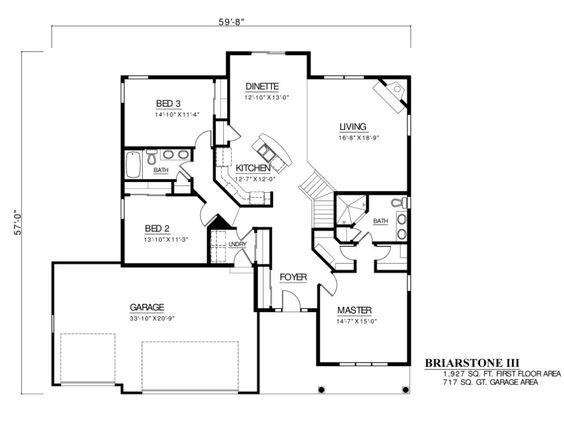 Custom floor plans ranch home plans and 3 car garage on for Custom ranch floor plans