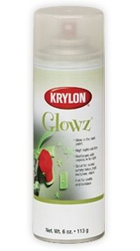 krylon glowz glow in the dark spray paint night visible finish. Black Bedroom Furniture Sets. Home Design Ideas