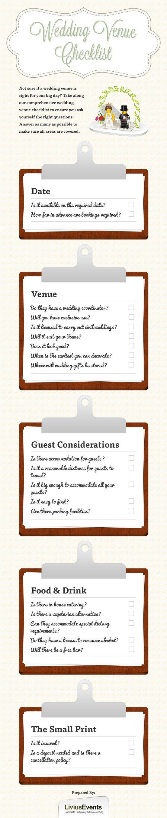 Fabulous Wedding Venue Questions Free Printable Checklist Venues And Weddings