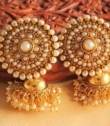 Buy Lovely designer pearl partywear jhumkkas jhumka online