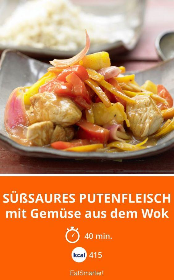 Süßsaures Putenfleisch - mit Gemüse aus dem Wok - smarter - Kalorien: 415 Kcal - Zeit: 40 Min. | eatsmarter.de