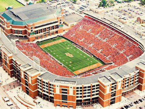 Oklahoma State University Aerial View Of Boone Pickens Stadium Photo Allposters Com Oklahoma State University Oklahoma State Football Oklahoma State Cowboys