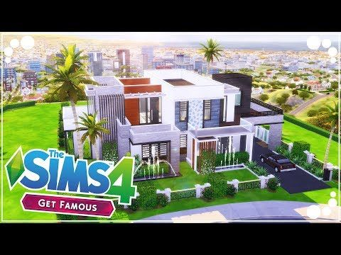 Celebrity Mansion Get Famous The Sims 4 Speed Build Youtube Celebrity Mansions Sims 4 Sims