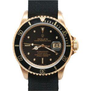 1STDIBS.COM Jewelry & Watches - Rolex - ROLEX Gold Submariner Ref.16808 c1985 - Wanna Buy A Watch?