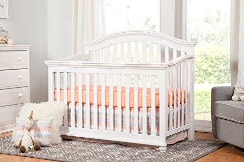 Davinci Sherwood 4 In 1 Convertible Crib In White Convertible Crib Cribs Adjustable Mattress