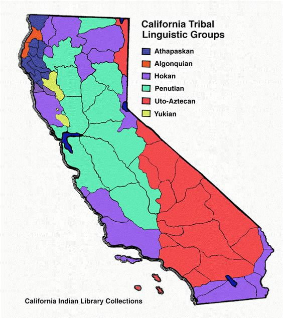 California Tribal Linguistic Groups. LBD