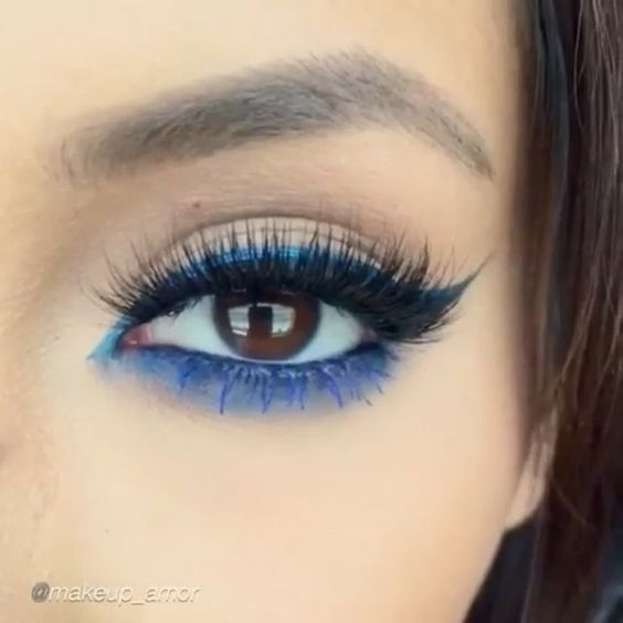 "A gorgeous way to wear blue by ✨@Makeup_Amor✨ finished off with Flutter® Lashes in ""KAMILLA"" ✨Visit us at FlutterLashes.com✨"