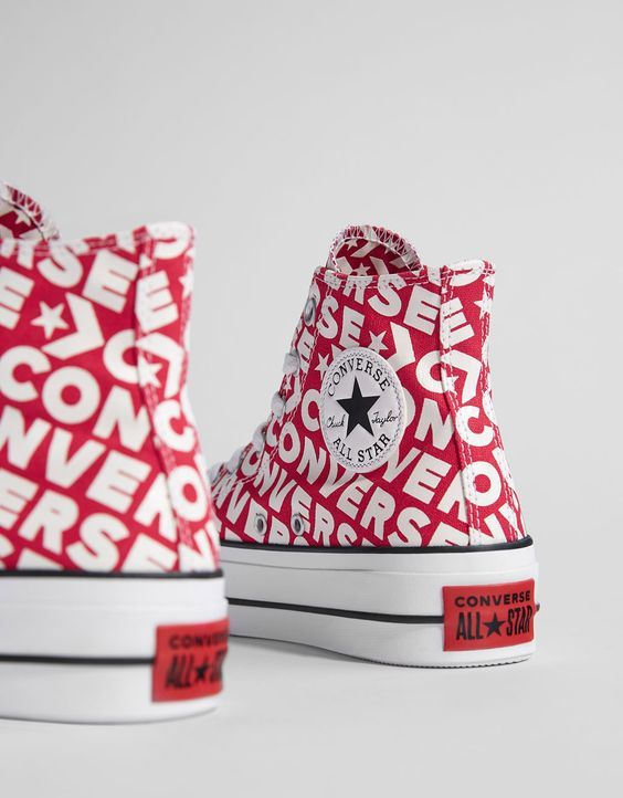 converse cuir rouge all star