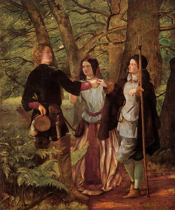 rosalind as ganymede Download this stock image: touchstone, the court fool, with rosalind, dressed  in ganymede's clothes, and cousin celia escape to the forest of arden.
