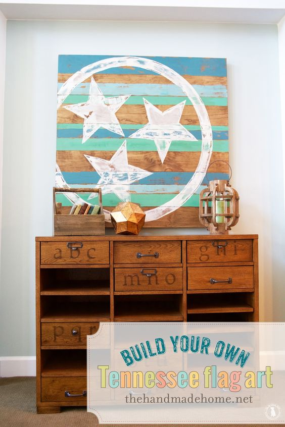 tennessee flag art - the handmade home