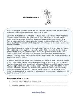 Spanish story: El chico cansado  