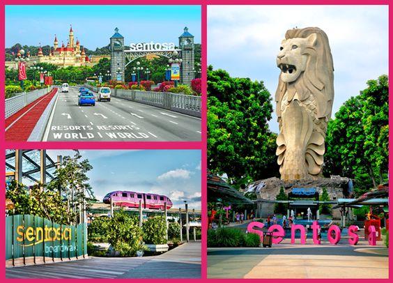 Toàn bộ Sentosa có 4 khu giải trí nghỉ dưỡng, bao gồm: Imbiah Lookout, Siloso Point, Beaches, Resorts World Sentosa. Bạn có thể di chuyển giữa các khu này bằng xe bus hoặc Sentosa Express.