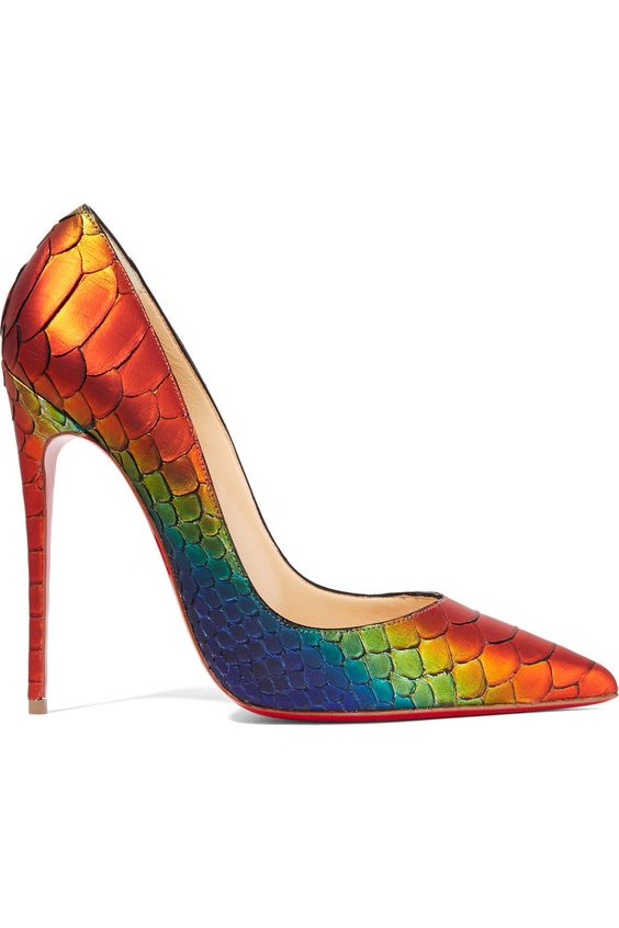 christian louboutin shoes replica - christian louboutin round-tork cork-accented pumps, christian ...