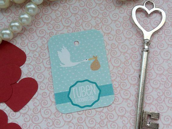 Etiqueta detalles Bautizo o Baby Shower