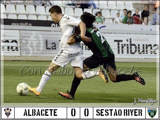 EL ALBA NO PUEDE CON 10 PERO SEGUIMOS INVICTOS  Albacete Balompié Carlos Belmonte Crónica fútbol Fútbol Sestao River Temporada 2016/17