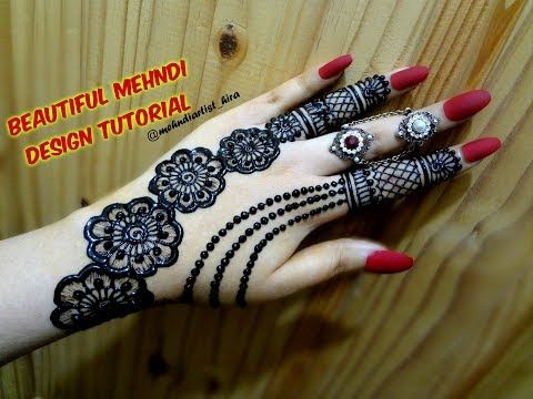 Diy Beautiful Trendy Stylish Simple Henna Jewelery Ornamental Mehndi